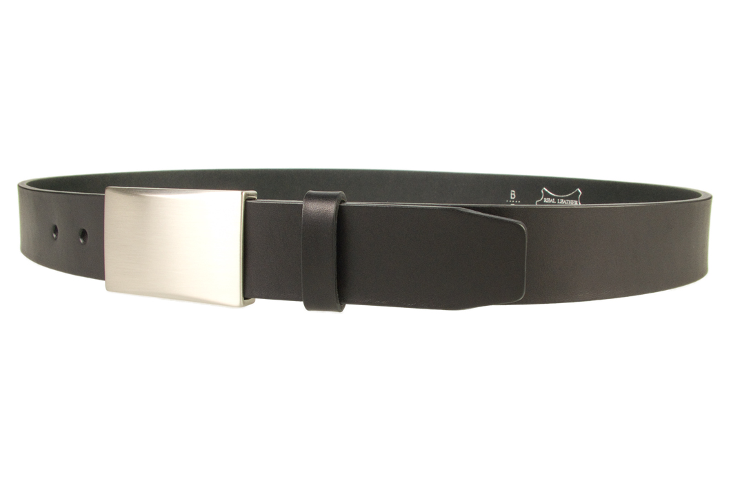 Mens Leather Belt With Plate Buckle Belt Designs