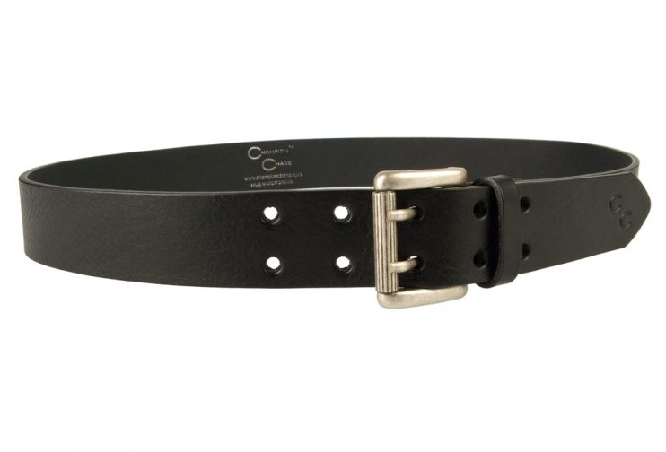 Ladies Black Leather Jeans Belt - High Quality Italian Vegetable Tanned Leather - Made In UK