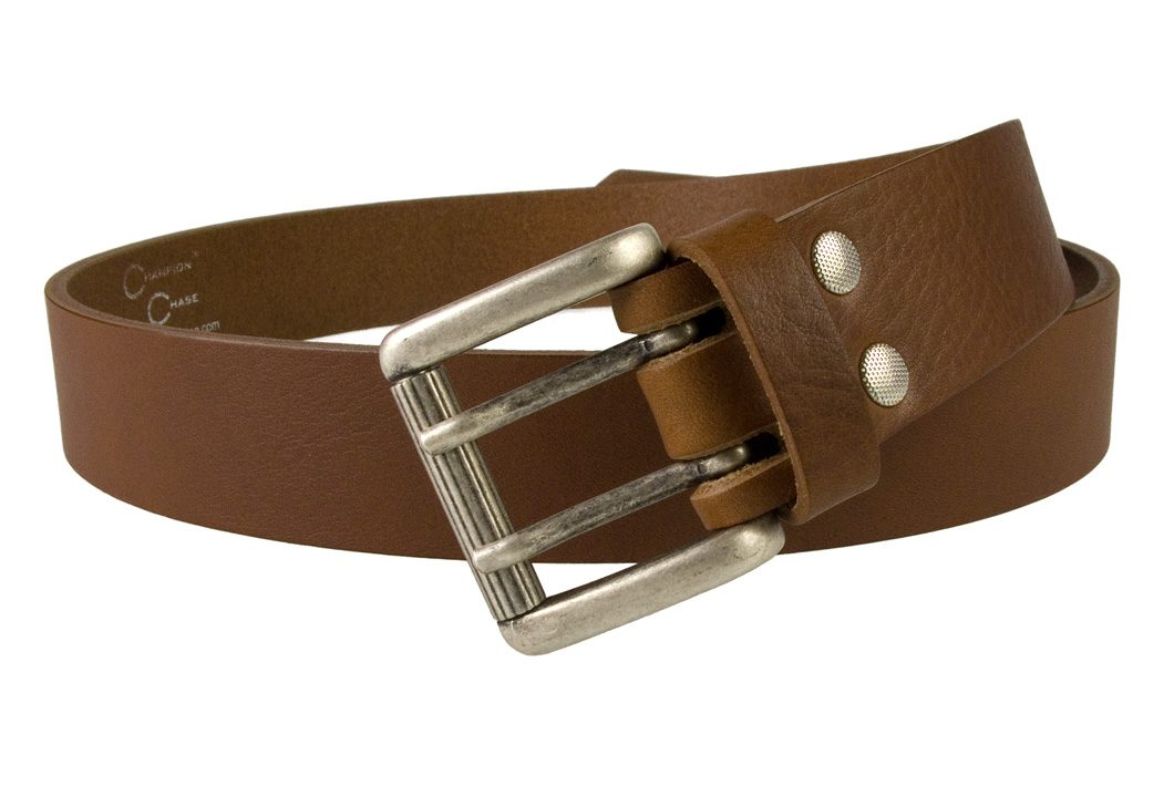 Ladies Tan Leather Belt Made In UK by Champion Chase -Open View