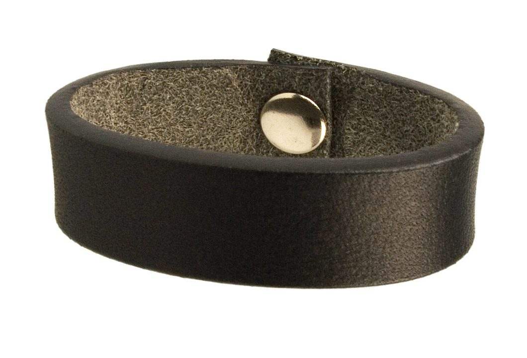 Black Leather Belt Loop With Finished Edge