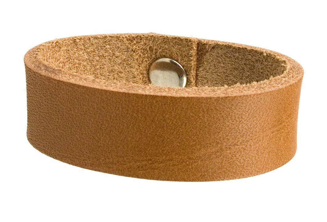 Light Tan Leather Belt Loop For Jeans