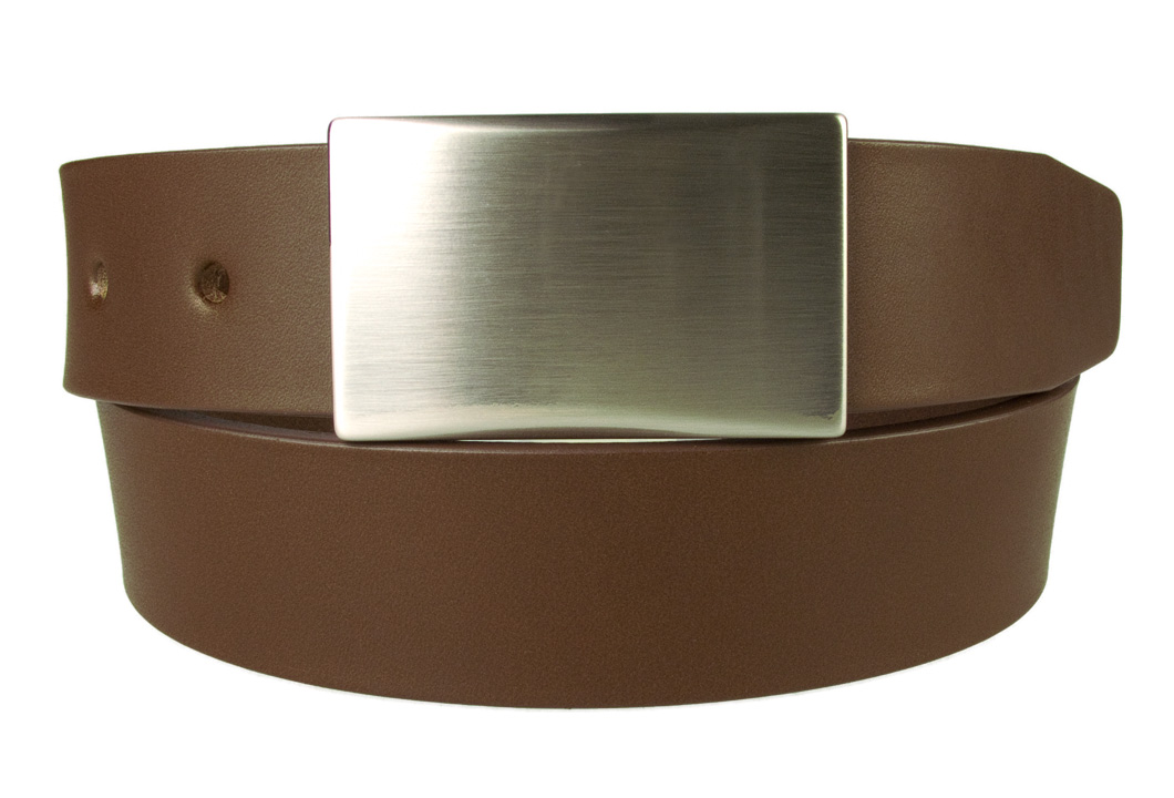 Plate Belt Brown Leather Made In Uk Belt Designs