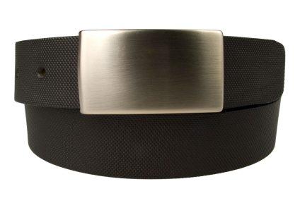 Plaque Buckle Suit Belt. Black Geometric Diamond Print Leather Belt.. 3 cm Wide. Made in UK. Italian Full Grain Vegetable Tanned Leather.