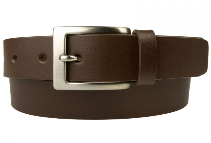 Dark Brown Leather Suit Belt