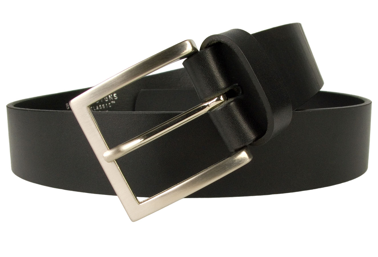 Mens High Quality Leather Jeans Belt 4cm Wide Made In UK by British Craftsmen