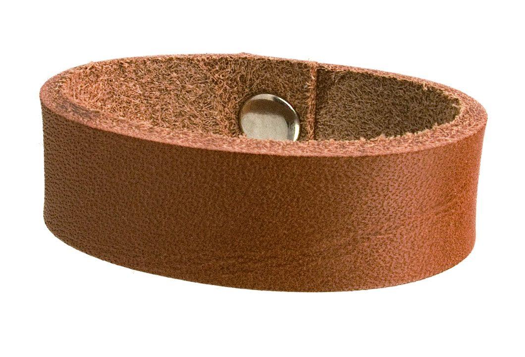 Tan Belt Loop Raw Edge