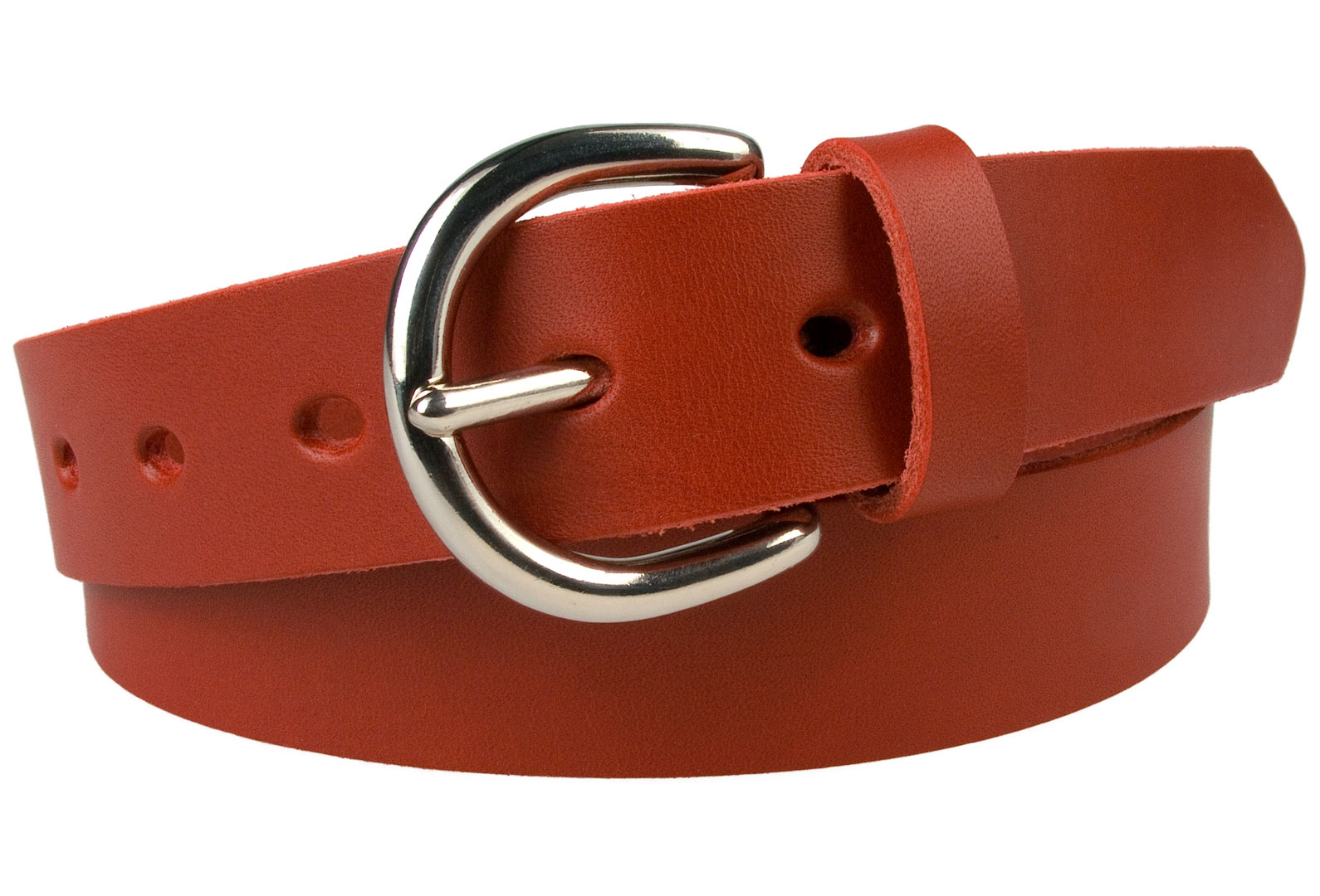 Made In UK Leather Belt 3cm Wide Full Grain Vegetable Tanned Leather
