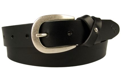 Womens Leather Bow Belt Black. Made In UK By British Craftsmen. High quality full grain leather and Italian made buckle with an old silver tone effect. The leather loop is designed to form a stylized bow effect secured in the center by a pretty bright silver toned ornament. 3cm Wide and approx 3mm in thickness. A smart feminine addition to your wardrobe.